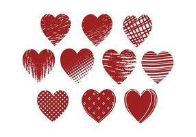 Gratis Grunge Hearts Vector
