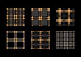 Flanel Black Gold Texture Vector