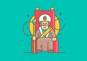 Lineaire Simple Sultan Vector Illustration