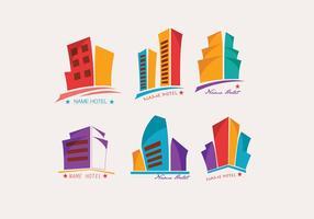Logo Hotel Kleurrijke Vector