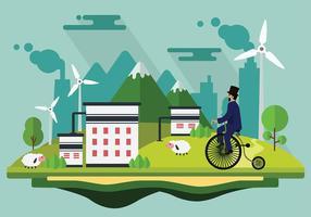 Bicicleta Cartoon Gratis Vector