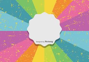 Kleurrijke Retro Achtergrond vector