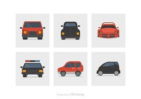 Flat Car Vector Icons