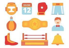 Gratis Boxing Design Collection Element Vector
