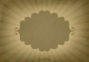 Retro Sunburst Achtergrond w / Leeg Etiket