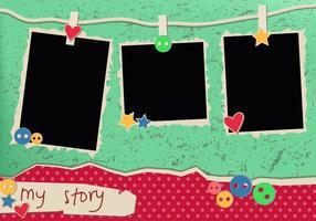 Mijn verhaal Uitstekende Polaroid- Frames vector