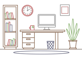 Gratis Office Workspace Vector
