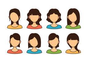 Vrouw Avatar Icons vector