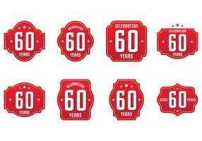60 Label Collecties vector
