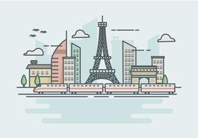 High speed rail TGV stadstrein Lanscape ilustration vector