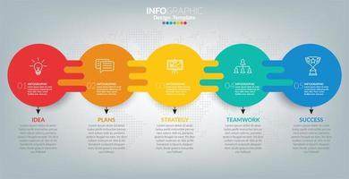 infographics voor zaken met succesconcept
