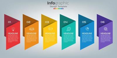 tijdlijn infographic sjabloon met pictogrammen in succes concept vector