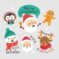 schattige kerstman en vriendencollectie