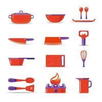 keukenelement instellen vector
