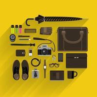 zakelijke levensstijl en marketing op bovenaanzicht vector