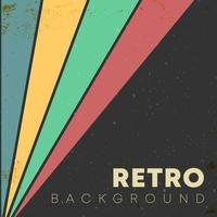 lineaire achtergrond met retro textuur en gekleurde strepen