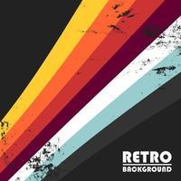 retro achtergrond met kleurrijke strepen en grunge textuur vector