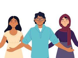 portret van diverse mensen samen