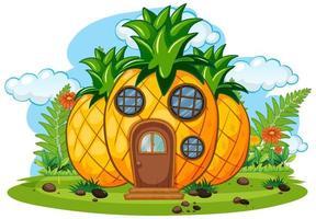 fantasie fruit huis geïsoleerd