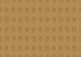 Owl Naadloos Behang vector