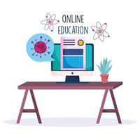 online onderwijs tijdens de uitbraak van het coronavirus vector