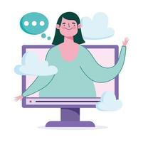 samenstelling van online onderwijs vector