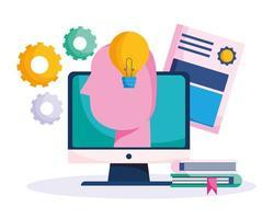 online onderwijs pictogrammen vector