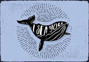 Gratis Hand Drawn Whale Achtergrond vector