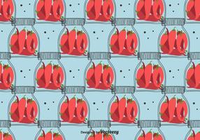 Patroon gebeitst Chili Pepper vector