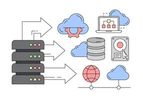 Gratis Vector Icons over Cloud Service