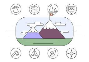 Gratis Wandelen en avontuur Icons vector