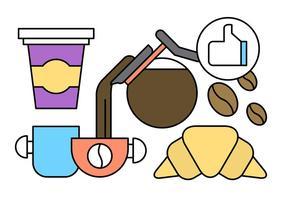 Gratis Linear Coffee Vector Elementen