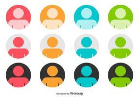 Headshot Afgeronde Vector Icons