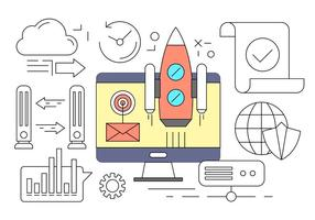 Free Business Startup Concept in Vector