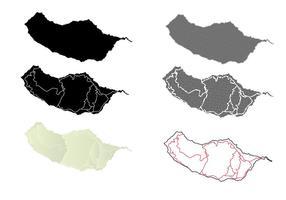 Madeira Silhouette Kaart