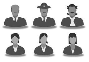 Mannen en vrouwen Silhouette Icon Set vector