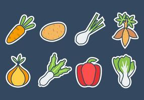 Gratis Fresh Vegetables Icons Vector