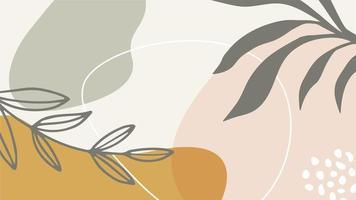 abstracte achtergrond met organische vormen en takken vector