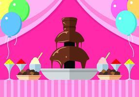 Chocolate Fountain Party Gratis Vector