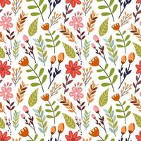 kleurrijke bloemen naadloze patroon vector