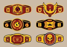 World Championship Belt Vector Pack