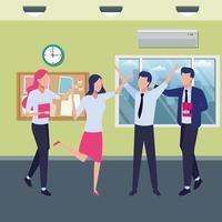 zakelijke collega's op kantoor
