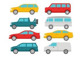 Gratis Flat Car Collection Vector