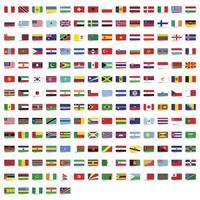 rechthoekige vlaggen van de wereldcollectie vector