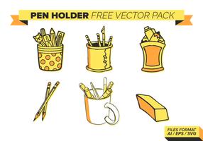 Pen Holder Gratis Vector Pack