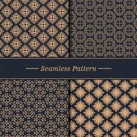 luxe patroon textuur set vector