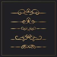 elegante vintage decoratieve ontwerpelementen