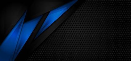 abstracte zwarte en blauwe achtergrond