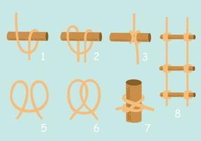 Hoe te Touwladder maken vector