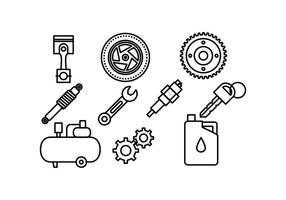 Gratis Automotive Icon Vector Pack